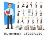 set of businessman character... | Shutterstock .eps vector #1522671110