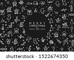 christmas background with xmas... | Shutterstock .eps vector #1522674350