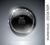 silver luxury label on dark...   Shutterstock .eps vector #152267609