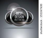 silver luxury label on dark...   Shutterstock .eps vector #152267630