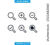 magnifying glass icons set...