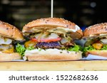 Close Up Of A Tasty Hamburger...