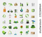 ecology icons set   isolated on ... | Shutterstock .eps vector #152268464