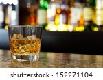 glass of scotch whiskey and ice ... | Shutterstock . vector #152271104
