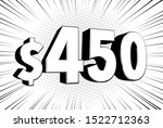 450  four hundred fifty price... | Shutterstock .eps vector #1522712363