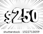 250  two hundred fifty price... | Shutterstock .eps vector #1522713059
