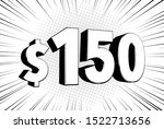 150  one hundred fifty price... | Shutterstock .eps vector #1522713656