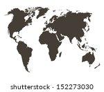 world map. map source  public... | Shutterstock .eps vector #152273030