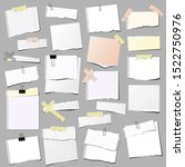 set of torn paper note ... | Shutterstock .eps vector #1522750976