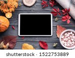 Autumn Fall Holiday Background...