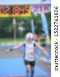 Small photo of Many runners who are blurred and unspecified