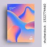 abstract liquid fluid gradient... | Shutterstock .eps vector #1522774460