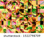 abstract multicolored picture.... | Shutterstock . vector #1522798709