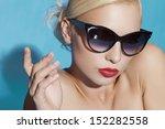 girl in black glasses | Shutterstock . vector #152282558