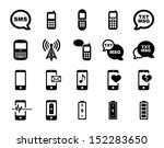 cell phone icon set | Shutterstock .eps vector #152283650