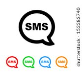 sms cell phone text message icon | Shutterstock .eps vector #152283740