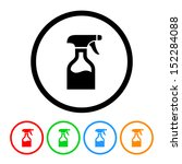 Spray Bottle Icon With Color...
