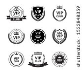 vip labels and badges with... | Shutterstock .eps vector #1522848359