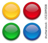 colorful round button collection | Shutterstock .eps vector #152289008