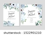 winter grey and green jade... | Shutterstock .eps vector #1522901210