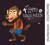 werewolf cartoon character for...   Shutterstock .eps vector #1522901456