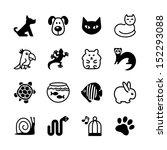 set of web icons. pet shop ... | Shutterstock .eps vector #152293088