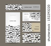 business cards collection ... | Shutterstock .eps vector #152293220