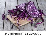 Portion Of Red Coleslaw On...