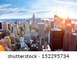 aerial view of manhattan... | Shutterstock . vector #152295734