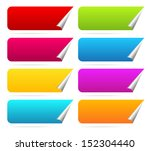 peeling horizontal stickers... | Shutterstock .eps vector #152304440
