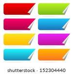 peeling horizontal stickers... | Shutterstock .eps vector #152304440