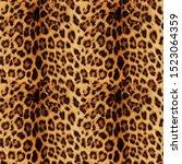 Seamless Realistic Leopard...
