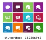 message bubble icons on color...
