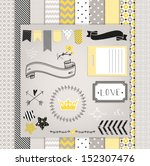 gray and yellow design elements ... | Shutterstock .eps vector #152307476