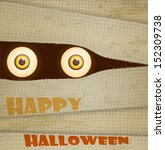 funny halloween greeting card ... | Shutterstock .eps vector #152309738