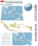 Indonesia maps with markers