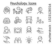 psychology icon set in thin... | Shutterstock .eps vector #1523128316