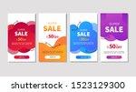 dynamic modern fluid mobile for ... | Shutterstock .eps vector #1523129300