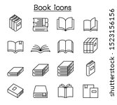 book icon set in thin line style | Shutterstock .eps vector #1523156156