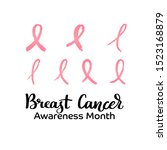 breast cancer awareness month... | Shutterstock .eps vector #1523168879