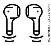 wireless mini headphones icon....