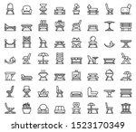 Garden Furniture Icons Set....