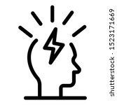 lightning in the head icon.... | Shutterstock .eps vector #1523171669