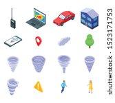 tornado icons set. isometric... | Shutterstock .eps vector #1523171753