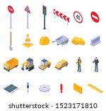 road repair icons set.... | Shutterstock .eps vector #1523171810