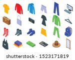 clothing store icons set.... | Shutterstock .eps vector #1523171819