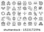 advice icons set. outline set... | Shutterstock .eps vector #1523172596