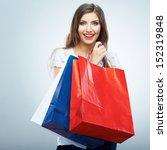portrait of happy smiling... | Shutterstock . vector #152319848