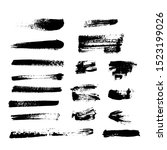 set of ink stains and strips ...   Shutterstock .eps vector #1523199026