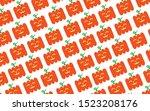 halloween background. festive... | Shutterstock .eps vector #1523208176